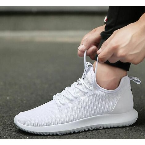 US Men's Casual Sports Shoes Gym Athletic Running Sneakers Outdoor ~ (White, 40)