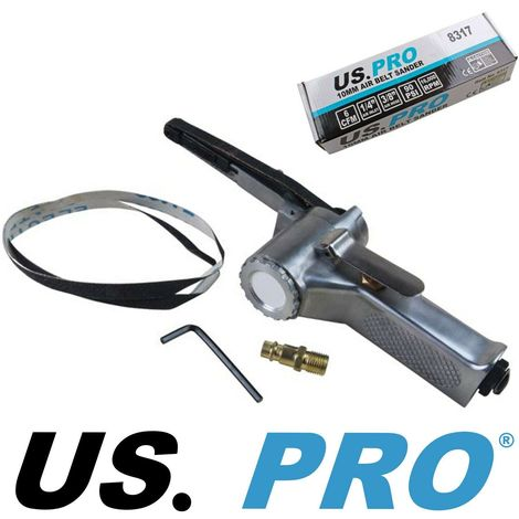 US PRO 10mm Air Belt File Finger Sander 8317