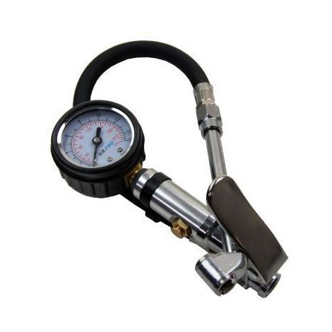 US PRO Compact Air Tyre Inflator with Dial Gauge for Cars Motorcycles NEW 8808
