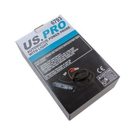 US PRO Tools Automotive Power Probe With Light 6-24v Dc Digital Tester NEW 6793