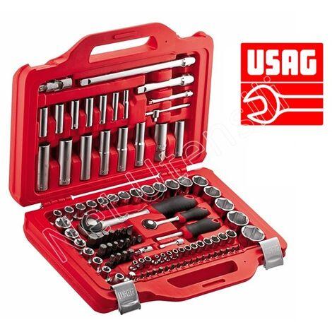 USAG 601 1/4-1/2 J100 KIT SERIE CHIAVI A BUSSOLA E TORX INSERTI CRICCHETTO
