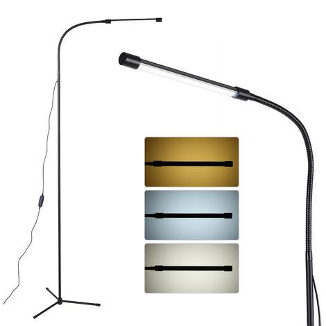 USB de intensidad regulable luz del piso de LED de la lampara de pie, interruptor de control de lumenes
