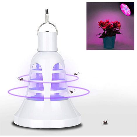 USB directo Char-ging LED planta que crece enciende la bombilla 8W UV Mosquito Killer Bug Zapper de la lampara crece la tienda de flores suculento de las plantas de interior vegetal