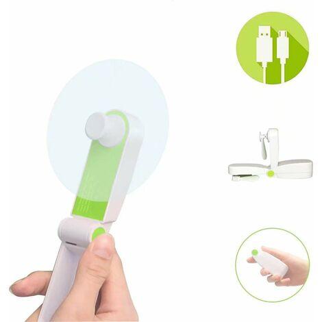 USB Hand Fan Mini Fan Portable Battery Powered Fan 2 Wind Speeds Personal Hand Fan for Office, Home, Outdoor, Travel
