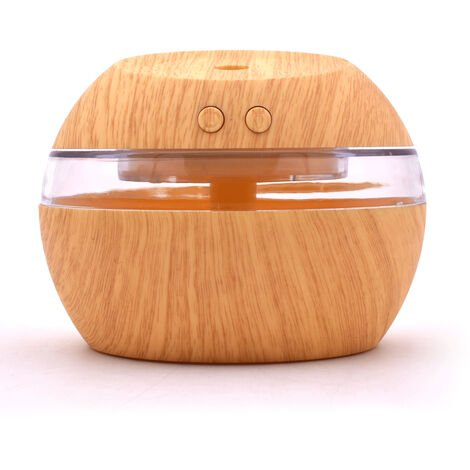 Usb Humidificateur Diffuseur D'Huiles Aroma 300Ml Mist Maker Led Cool Night Lights Light Pour Home Office, Bois Clair