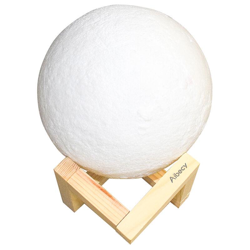 Image of USB moon light 3D printed PLA material LED diameter 10cm