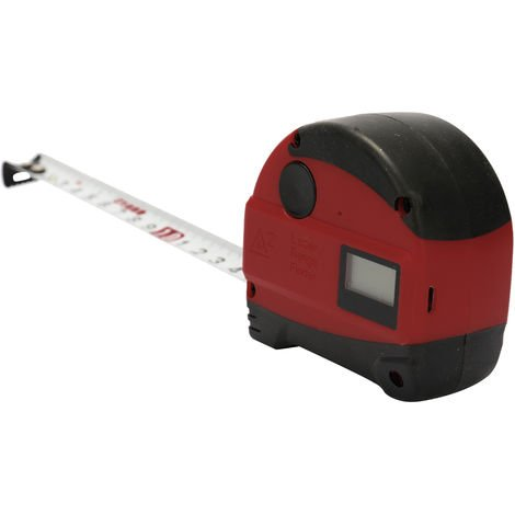 USB rechargeable multifunctional measuring ruler built-in lithium battery red