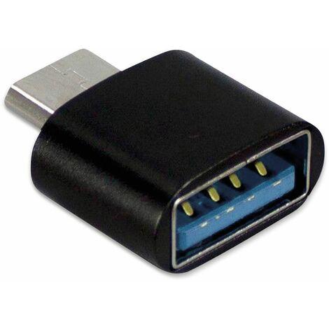 "main image of ""USB2.0-Adapter INTER-TECH, USB-A Buchse auf USB-C Stecker"""