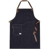 USKEES CHORLTON Denim Bib Apron - Indigo for Home use Cooking Barista Bartender Universal