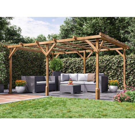 "Utopia Wooden Pergola Garden Canopy Plants Frame W4m x D3m (13' 1"" x 9' 10"")"