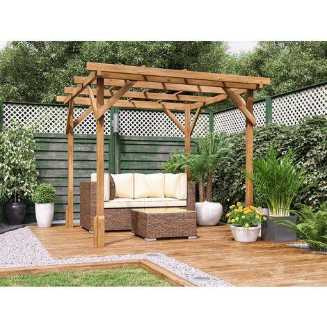 "main image of ""Utopia Wooden Pergola Garden Plants Frame W2m x D2m (6' 6"" x 6' 6"")"""
