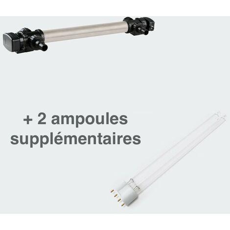 U.V INOX 110W pour Bassin De Plus de 50 m³ + 2 Ampoules De Rechange