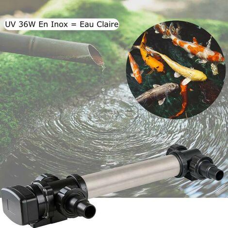 U.V INOX Stérilisateur - Clarificateur ( Ultra Violet ) 36W Pour Bassin De Jardin De Plus De 15 m³