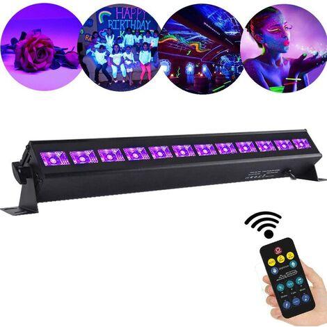 UV Lumière Bar, 36W Projecteur UV Lumière Violette 12 LEDs, Lampe à Lumière Noire Lampe Wall Washer Éclairage de Scène Parfait pour Club Party Disco KTV