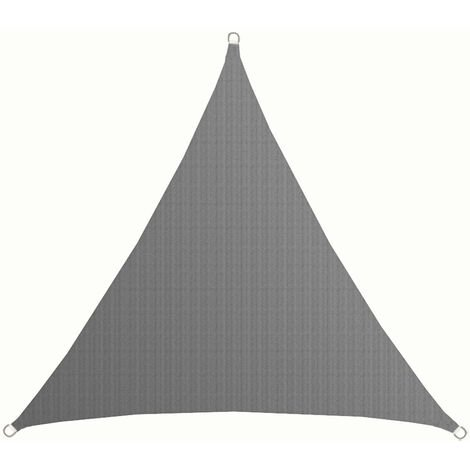UV Sonnensegel 3x3x3 m HDPE Dreieck Sonnenschutz Überdachung Balkon Garten Grau