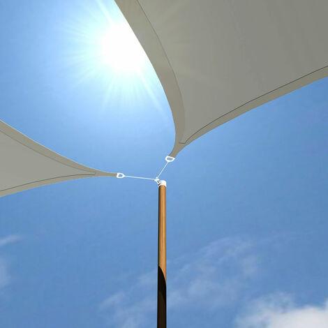 UV Sonnensegel 5x5x5 m HDPE Dreieck Sonnenschutz Überdachung Balkon Garten Grau