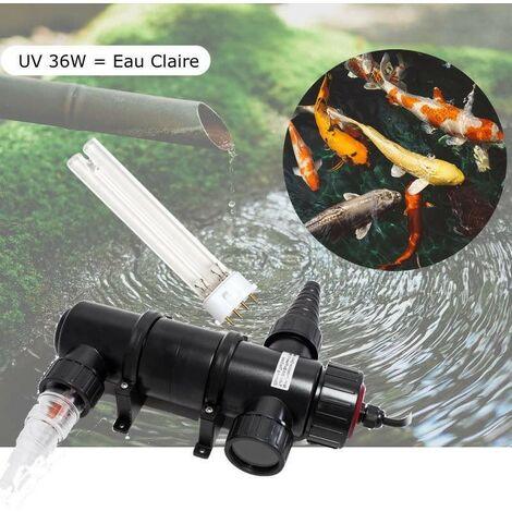 UV Stérilisateur - Clarificateur 36W Pour Bassin De 12m³ + 1 Ampoule De Rechange