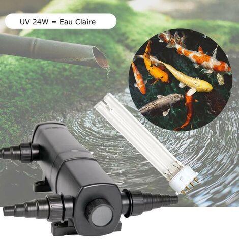 U.V ( Ultra Violet ) Stérilisateur - Clarificateur , 24W, Bassin 10m³ + 1 Ampoule