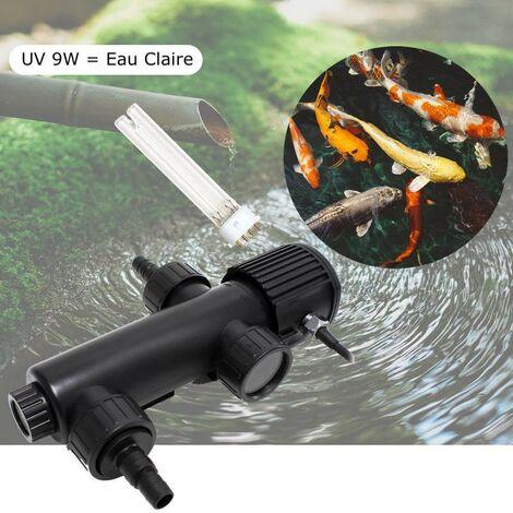 U.V ( Ultra Violet ) Stérilisateur - Clarificateur 9W Pour Aquarium, Bassins + 1 Ampoule Supplémentaire