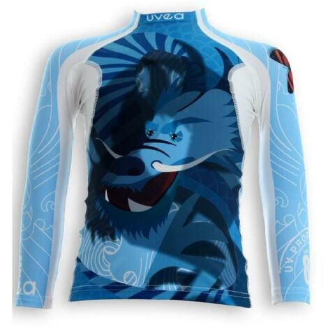 UVEA Teeshirt rashguard anti UV 80+ maillot manches longues INDIANA - Taille 9/18 mois - Imprimé dragoon Aucune