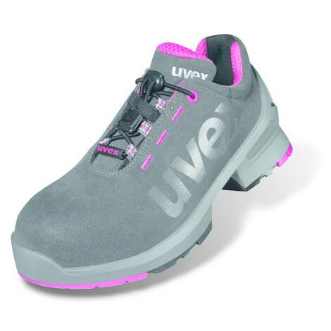 97a2c9fa87e Uvex 8562.8 1 Size 4 Ladies Safety Trainers S2 Grey/Pink