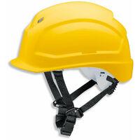 uvex UVEX Schutzhelm pheos S-KR - Arbeitsschutz-Helm - EN 397 - Vormontierter 4-Punkt Kinnriemen und Vollsichtbrillenclip