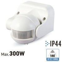 V-TAC - Detector de presencia por infrarrojos de pared en superficie. Color blanco