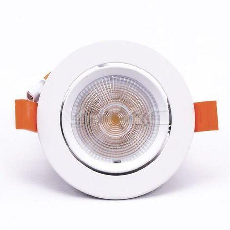 "main image of ""V-tac faretto ad incasso led chip samsung rotondo 10w luce naturale 4000k vt-2-20 840"""