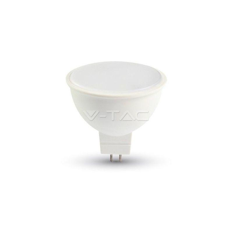 LAMPADINA FARETTO GU5.3 MR16 LED 7W SMD 110° CALDA-NATURALE-FREDDA SKU 1688-1689-1690 CALDA - V-tac