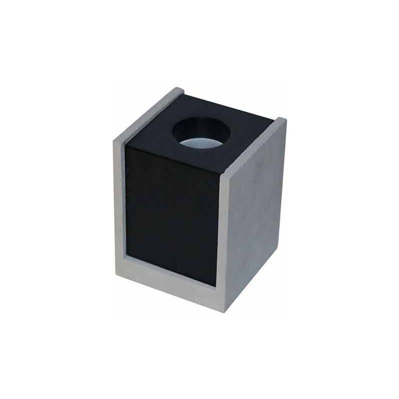 V-TAC VT-860 Portafaretto soffitto quadrato in gesso grigio con bordo metallo nero per 1xGU10-GU5.3 - sku 3143