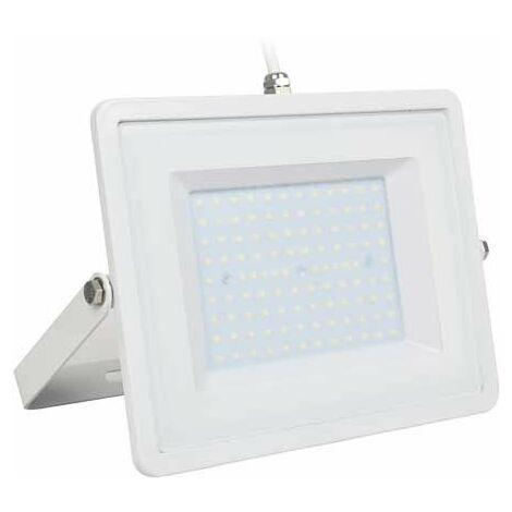 V-TAC PRO VT-100 Projecteur LED 100W slim blanc Chip Samsung SMD blanc froid 6400K  - SKU 417