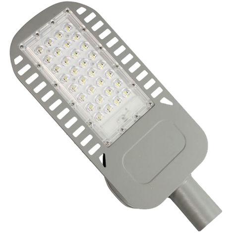 V-TAC PRO VT-51ST Réverbère LED Street light 50W chip samsung meanwell blanc froid 6400K aluminium gris mat IP65 - sku 540
