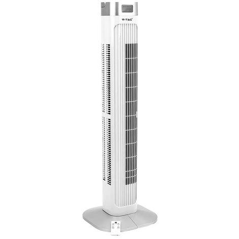 V-tac Ventilateur tour, télécommande, oscillant, H 99,5 cm VT-5536