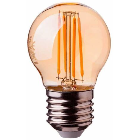 V-TAC VT-1957 bombilla de luz LED E27 4W MINIGLOBO G45 FILAMENTO ámbar - SKU 7100 VT-1957