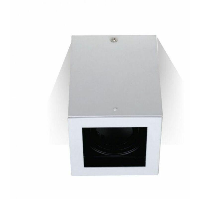 Portafaretto LED Montaggio a Plafone Quadrato GU10 e GU5.3 (MR16) Colore Bianco Orientabile - V-tac