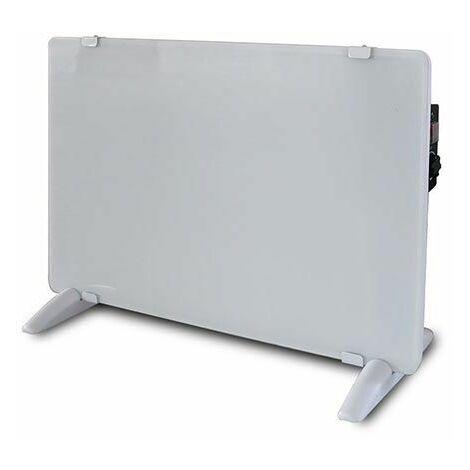 V-TAC VT-2000-W Réchauffeur de convecteur en verre 2000W aluminium blanc étanche IP24 - sku 8661