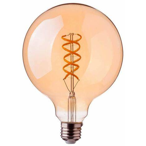 Bombilla LED E27 filamento globo Curve Plus Gold Cover G125 2200K 5W