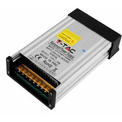 V-TAC VT-21401 Alimentation LED SLIM 400W 12V 33A 3 sorties corps en métal IP45 - SKU 3233