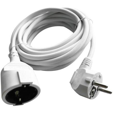 V-TAC VT-3001-5 Prolongateur rallonge électrique schuko 16A EU standard câble blanc 5m - sku 8779