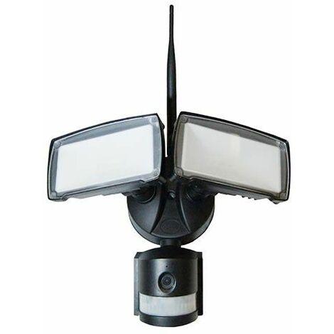 V-Tac VT-4818 Projecteur 18W avec caméra wifi et capteur PIR blanc froid 6400K corps blanc IP44 - SKU 5745