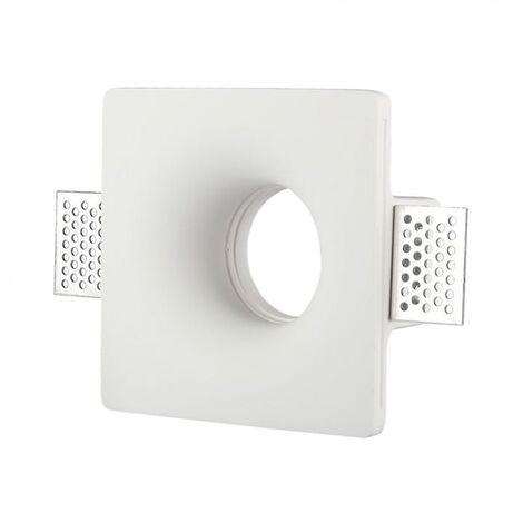 V-TAC VT-714SQ plafond carré plâtre pour spot LED GU10-GU5.3 - SKU 3674