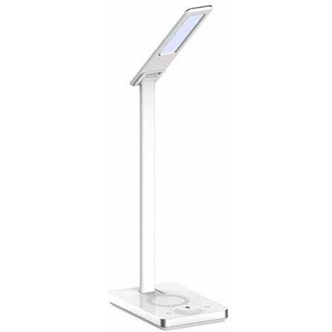 V-TAC VT-7505 Lampe table LED 5W touch changement de couleur 3in1 dimmable avec wireless charging corps noir - SKU 8602