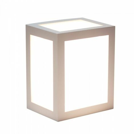V-TAC VT-822 applique murale LED 12W wall light cube corps gris blanc neutre 4000K IP65 - sku 8338