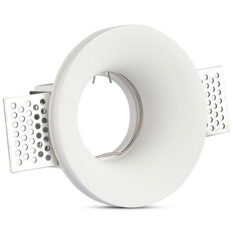 V-TAC VT-859RD plafond rond plâtre pour spot LED GU10-GU5.3 - SKU 3697