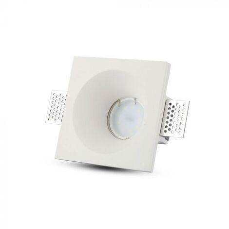 V-TAC VT-859SQ plafond carré plâtre pour spot LED GU10-GU5.3 - SKU 3696