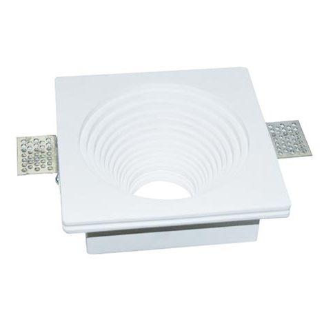 V-TAC VT-867SQ plafond carré plâtre intérieur rond pour spot LED GU10-GU5.3 - SKU 3152