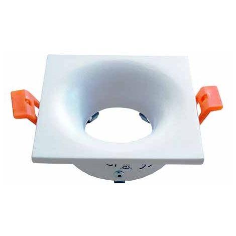 SKU 3169 V-TAC VT-876 Portafaretto incasso rotondo bianco alluminio per lampade GU10-GU5.3
