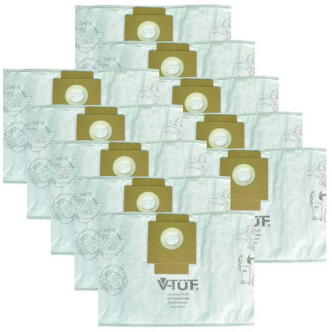 V-TUF VTM201 Dust Bags Pack of 10