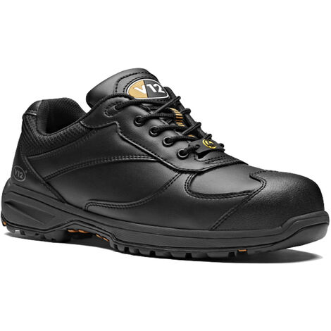 V12 Boost Safety Work Trainer Shoes Black (Sizes 6-13)