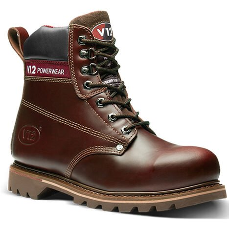 "main image of ""V12 Boulder Safety Work Boots Brown (Sizes 5-13)"""